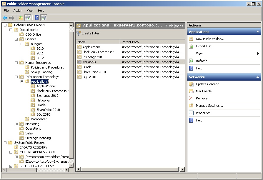 Exchange 2010 Public Folders: Part 1 | Thoughtsofanidlemind's Blog