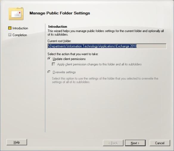 Exchange 2010 Public Folders: Part 1