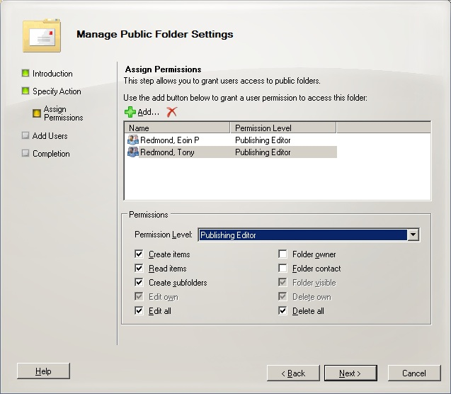 Exchange 2010 Public Folders: Part 3