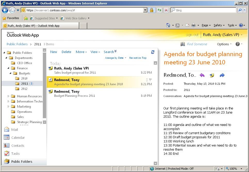 Outlook 2007 public folder calendar not updating