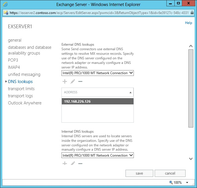 Exchange 2013: Stuck messages in OWA's Drafts folder and DNS