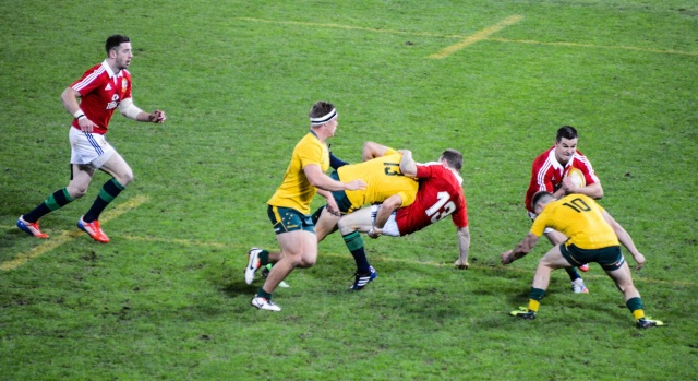 Opposite numbers collide in the first Australia vs. British Lions test