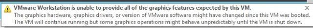 VMware complains - but not a lot