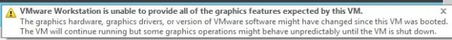 VMware complains - but not a lot