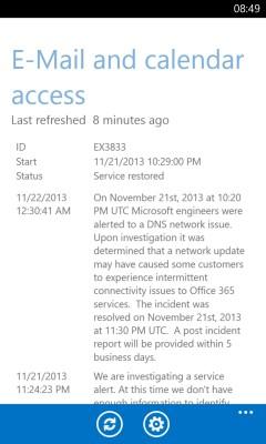 Incident status