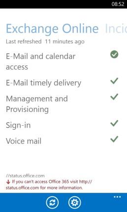 Office 365 Service Status