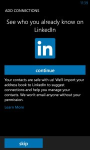 LinkedIn offers to import your address book