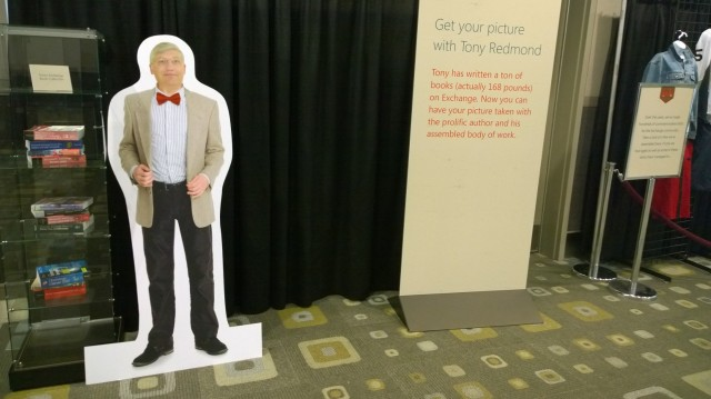 Cardboard Tony at the Exchange Museum