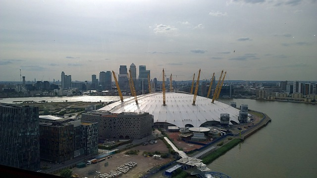 O2 London from the Emirates SkyLine