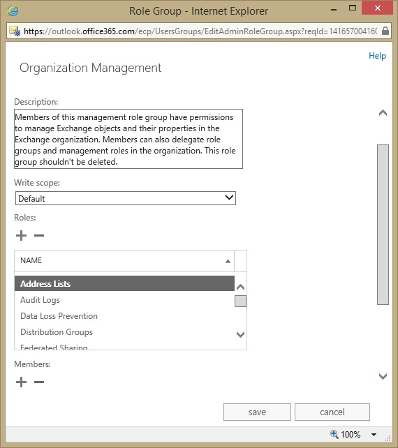 creating a new address list for exchange online office 365