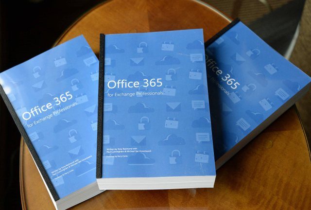 Unique printed copies of Office 365 for Exchange Professional courtesy of Microsoft
