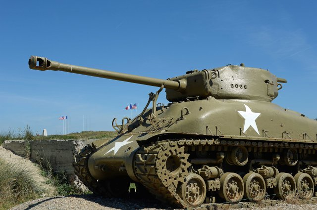 M-4 Sherman Tank at Utah Beach