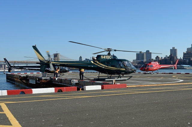The busy heliport