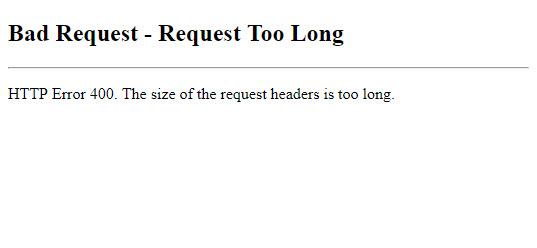 Office 365 Admin Center HTTP 400