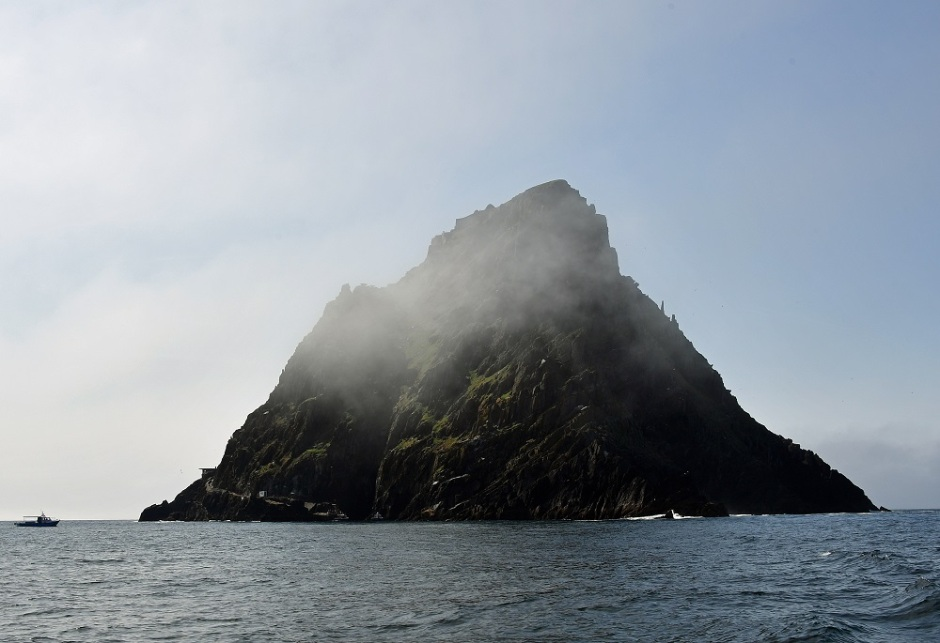 Skellig Michael from a boat